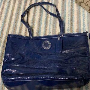 Blue Patton coach purse